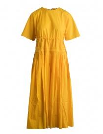 Abito Sara Lanzi lungo plissé giallo SL SS19 01E.CO3.05 YELLOW order online