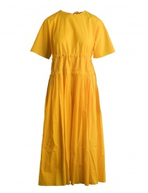 Sara Lanzi pleated long yellow dress online