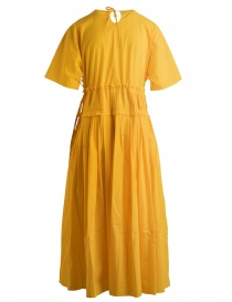 Sara Lanzi pleated long yellow dress buy online