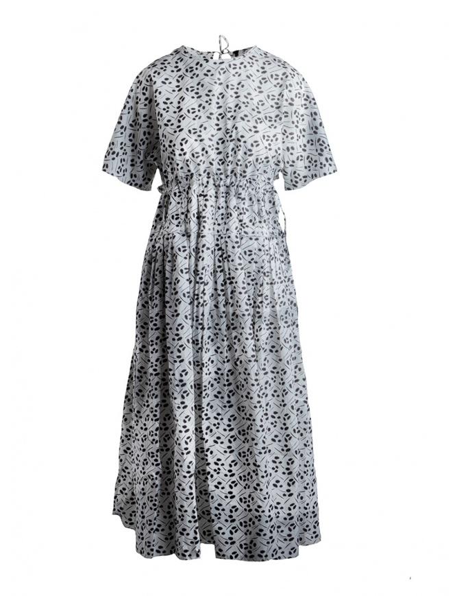 Abito Sara Lanzi a fiori bianco e nero SL SS19 01E.CO3.19 PR.MULBERRY abiti donna online shopping