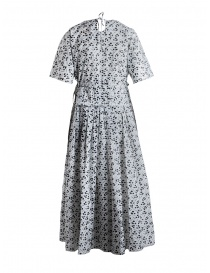 Sara Lanzi dress with black and white floral pattern