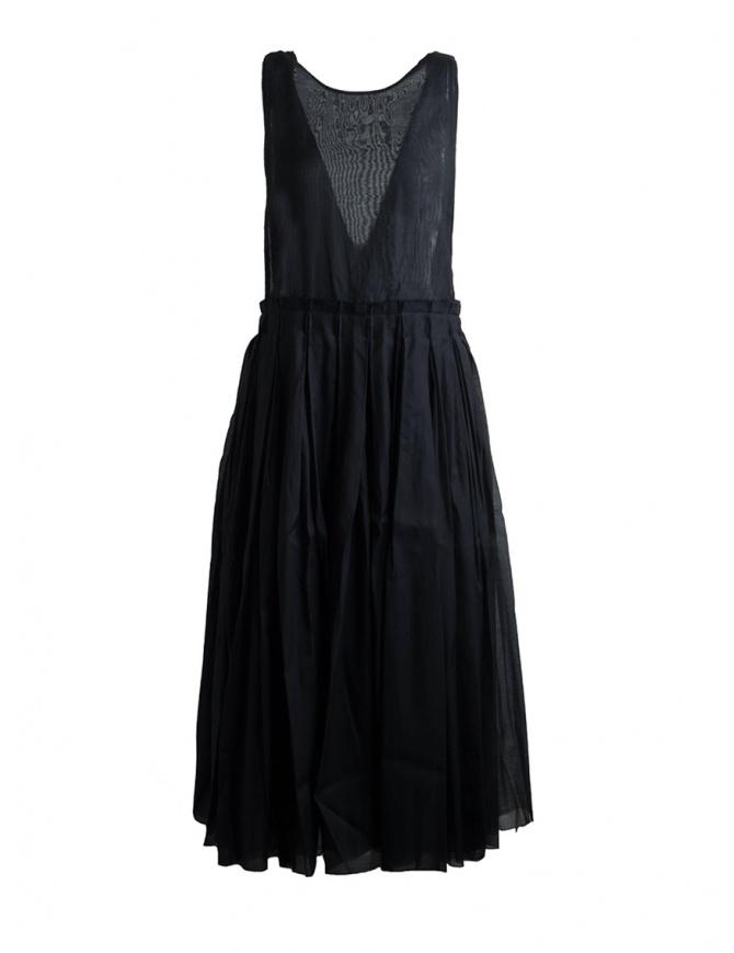 Sara Lanzi Sleeveless Black Midi Dress SL SS19 01G.CS1.09 BLACK womens dresses online shopping