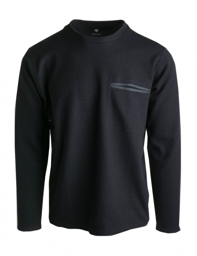 Descente Pause black pullover DLMNJB53-BK mens knitwear online shopping