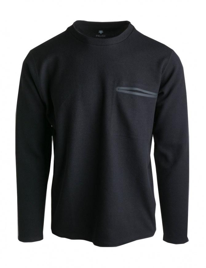 Pullover Descente Pause colore nero DLMNJB53-BK maglieria uomo online shopping