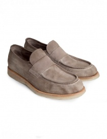Mens shoes online: Shoto Melody Dive beige suede mocassin