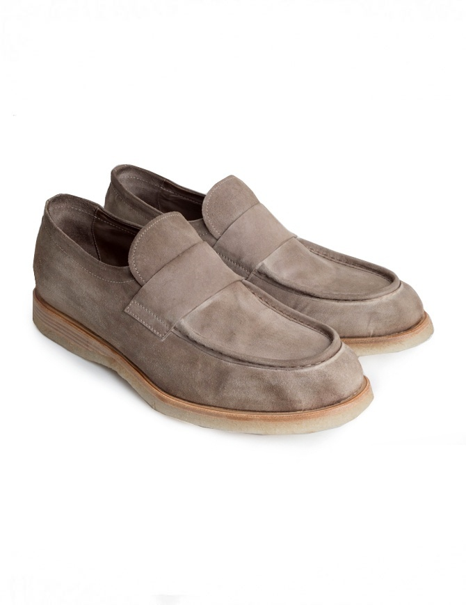Mocassino Shoto Melody Dive scamosciato beige 9736 MELODY VELOUR DIVE TAU calzature uomo online shopping