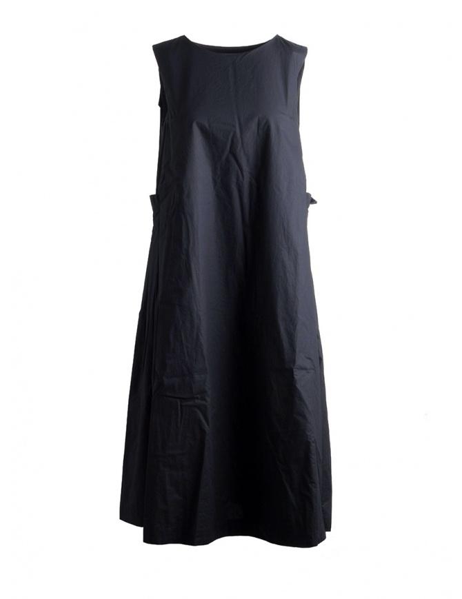 Abito Casey Casey senza maniche cotone nero 12FR252 BLACK abiti donna online shopping