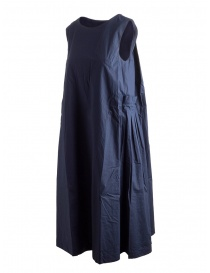 Casey Casey cotton navy blue sleeveless dress