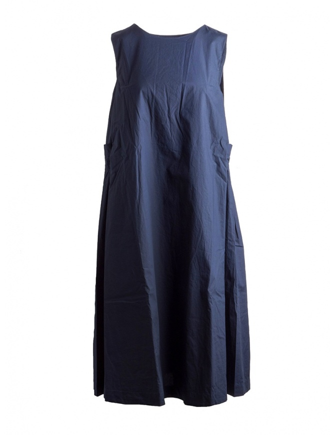 Casey Casey cotton navy blue sleeveless dress 12FR252 NAVY womens dresses online shopping