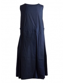 Casey Casey cotton navy blue sleeveless dress price