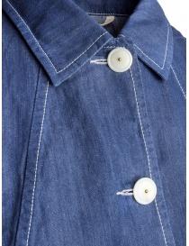 Giacca camicia Casey Casey lino indaco prezzo