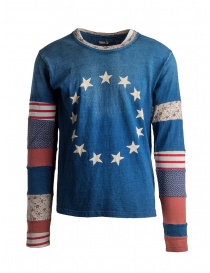 Mens t shirts online: Kapital long sleeve t-shirt USA star-spangled flag