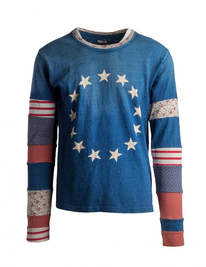 Kapital long sleeve t-shirt USA star-spangled flag K1502LC153 RED mens t shirts online shopping