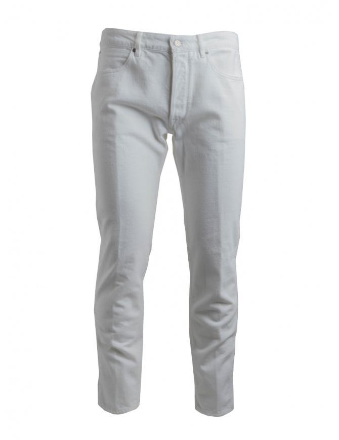 Pantaloni bianchi Golden Goose deluxe G34MP512.A3 WHITE DESTROYED pantaloni uomo online shopping