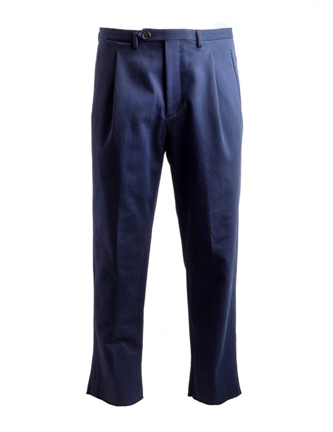 Golden Goose deluxe navy chino pants G34MP515.A1 NAVY WASHED mens trousers online shopping