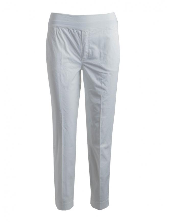 European Culture women's white trousers 065U 3822 0101 womens trousers online shopping