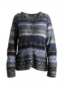 M.&Kyoko mixed silk cardigan sweater online
