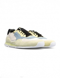 Mens shoes online: Camper Nothing yellow/light blue sneakers (man)