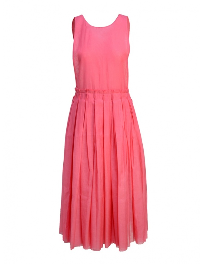 Sara Lanzi sleeveless fuchsia midi dress SL SS19 01G.CS1.04 FUXIA womens dresses online shopping