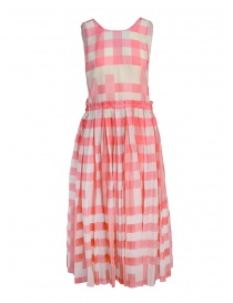 Sara Lanzi dress with pink squares SL SS19 01G.CS1.146 VICHY order online