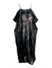Miyao transparent black dress with shoulder straps MQ-O-05 BLACK