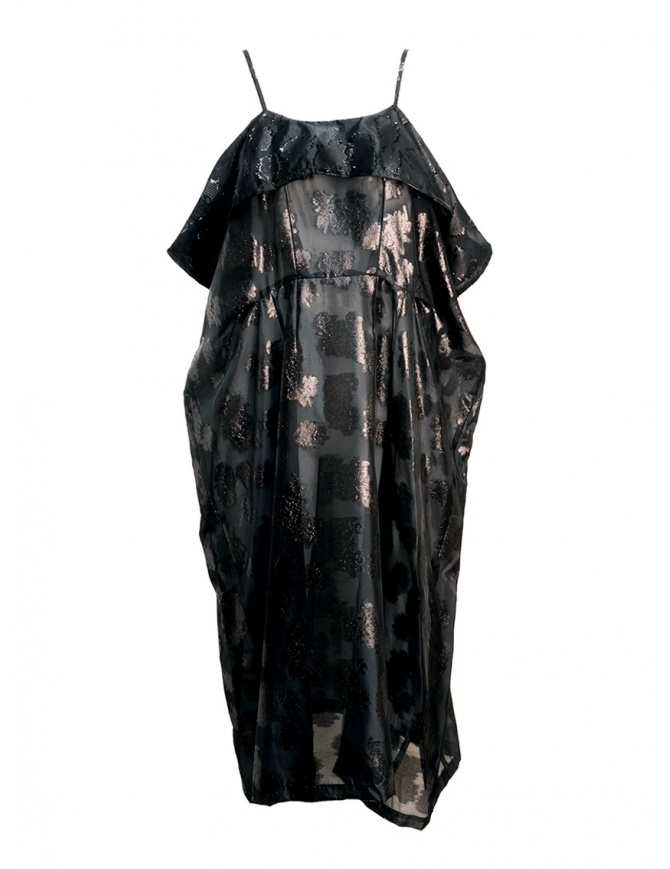 Abito Miyao nero trasparente con spalline MQ-O-05 BLACK abiti donna online shopping