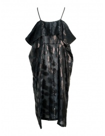 Miyao transparent black dress with shoulder straps