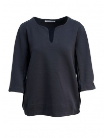 Maglia European Culture in felpa colore blu 46F0 2425 1508 order online