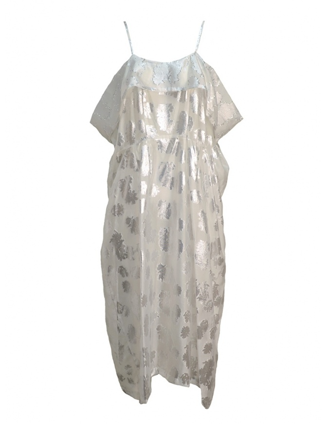 Miyao transparent white dress with shoulder straps MQ-O-05 WHITE womens dresses online shopping