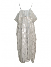 Miyao transparent white dress with shoulder straps