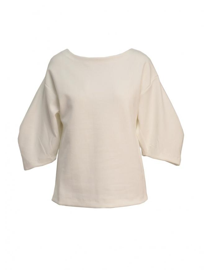 Maglia European Culture in felpa colore bianco 4770 2425 0100 maglieria donna online shopping