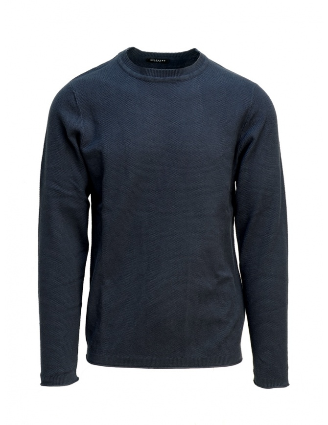 Pullover Selected Homme blu scuro zaffiro 16067495 DARK SAPPHIRE maglieria uomo online shopping
