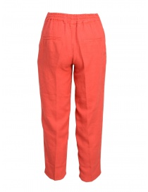Pantaloni European Culture rosso corallo acquista online
