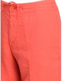 Pantaloni European Culture rosso corallo prezzo