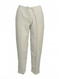 Womens trousers online: European Culture pearl grey trousers