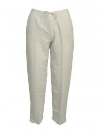 Pantaloni European Culture colore grigio perla 055U 7661 1115 order online