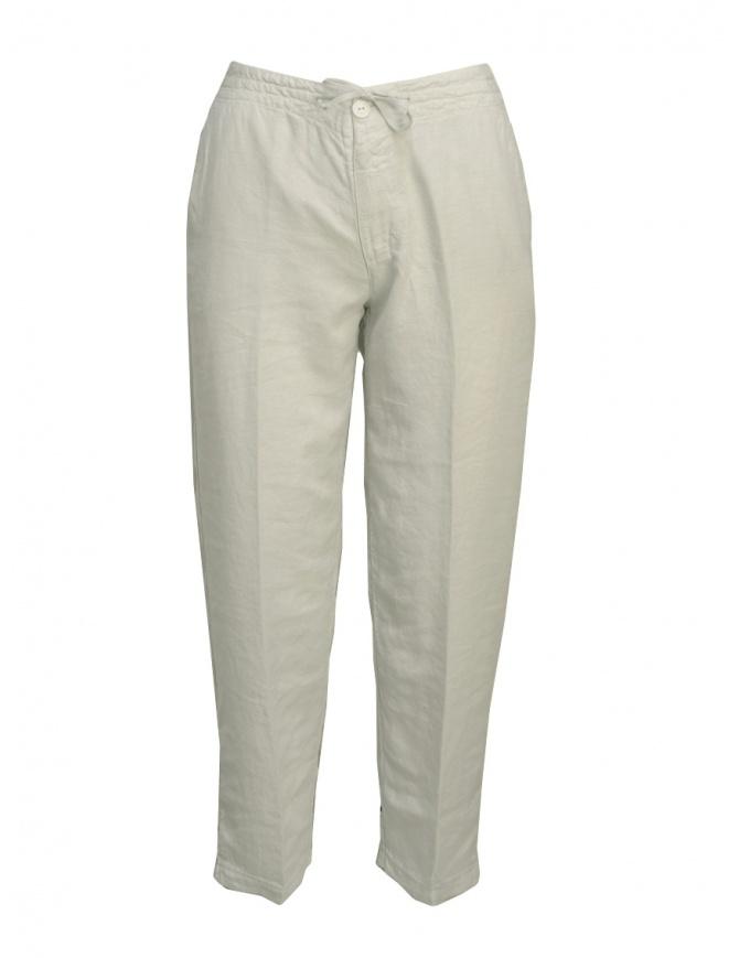 European Culture pearl grey trousers 055U 7661 1115 womens trousers online shopping