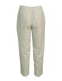 Pantaloni European Culture colore grigio perla