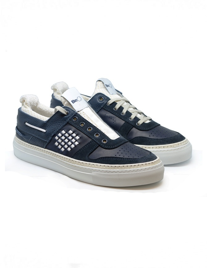 Sneakers BePositive Sail Force blu navy 9SARIA18/LEA/NVY calzature uomo online shopping