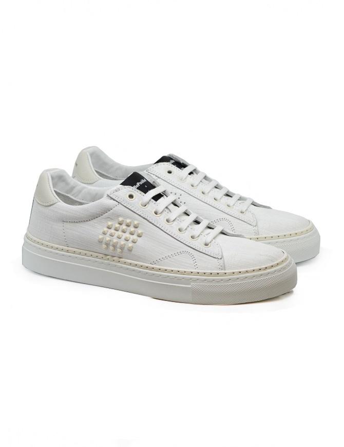 Sneaker BePositive Track_02 bianca e avorio 9SARIA11/GES/WHI calzature uomo online shopping