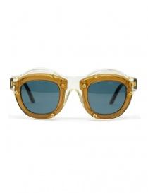 Occhiali online: Occhiale Kuboraum Maske W1 in acetato marrone e champagne