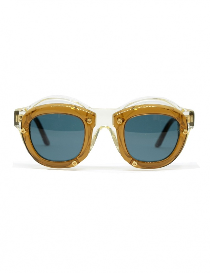 Kuboraum Maske W1 glasses in champagne and brown acetate W1 46-28 CB teal glasses online shopping