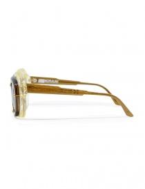 Occhiale Kuboraum Maske W1 in acetato marrone e champagne prezzo