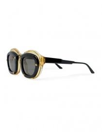 Occhiale Kuboraum Maske W1 in acetato nero e champagne
