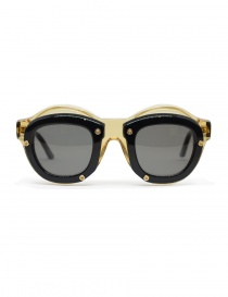 Kuboraum Maske W1 glasses in champagne and black acetate W1 46-28 HB O.grey