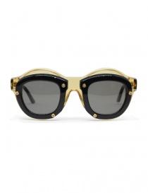 Occhiali online: Occhiale Kuboraum Maske W1 in acetato nero e champagne