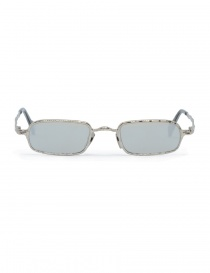 Glasses online: Kuboraum Maske Z18 metal sunglasses in silver color