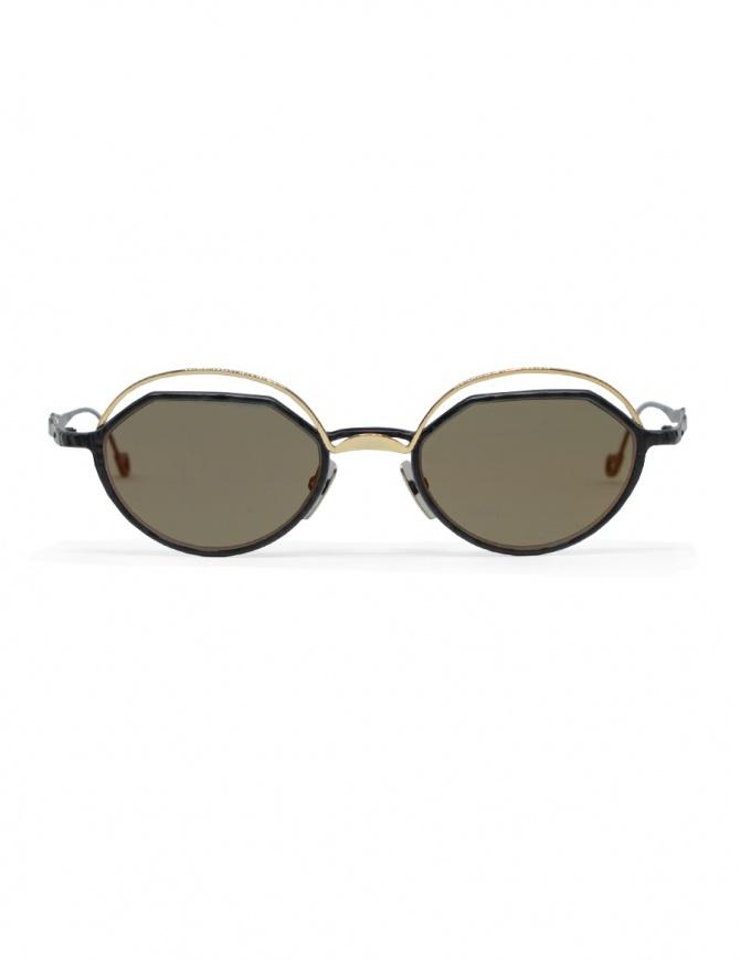 Occhiale da sole Kuboraum Maske H70 metallo oro e nero H70 49-20 GB fgold occhiali online shopping