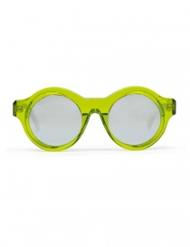 Glasses online: Kuboraum Maske A1 sungrasses in green acetate