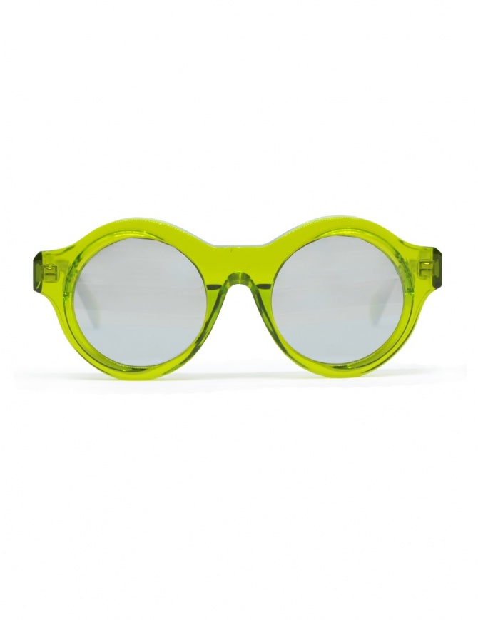 Kuboraum Maske A1 sungrasses in green acetate A1 44-21 GR silver glasses online shopping